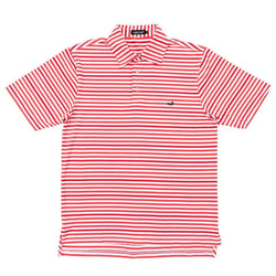 Newberry Performance Polo in Red and White by Southern Marsh