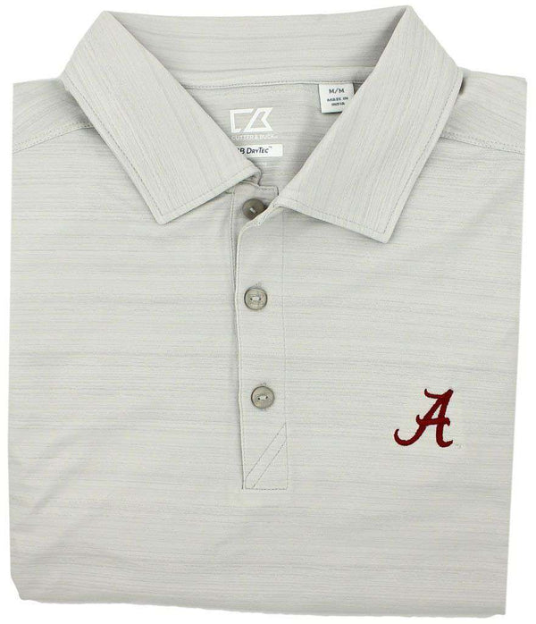 Men's Polo Shirts - Performance Alabama Polo In Concrete Gray By Cutter & Buck - FINAL SALE