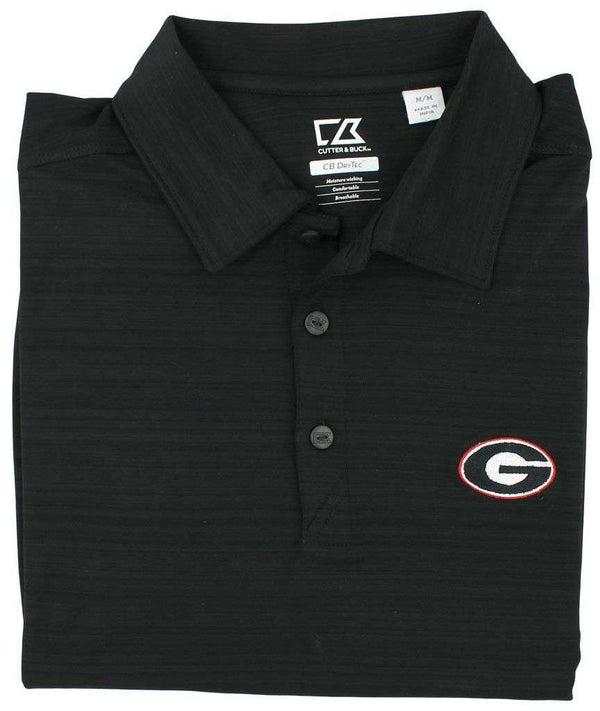 Men's Polo Shirts - Performance Georgia Polo In Concrete Black By Cutter & Buck