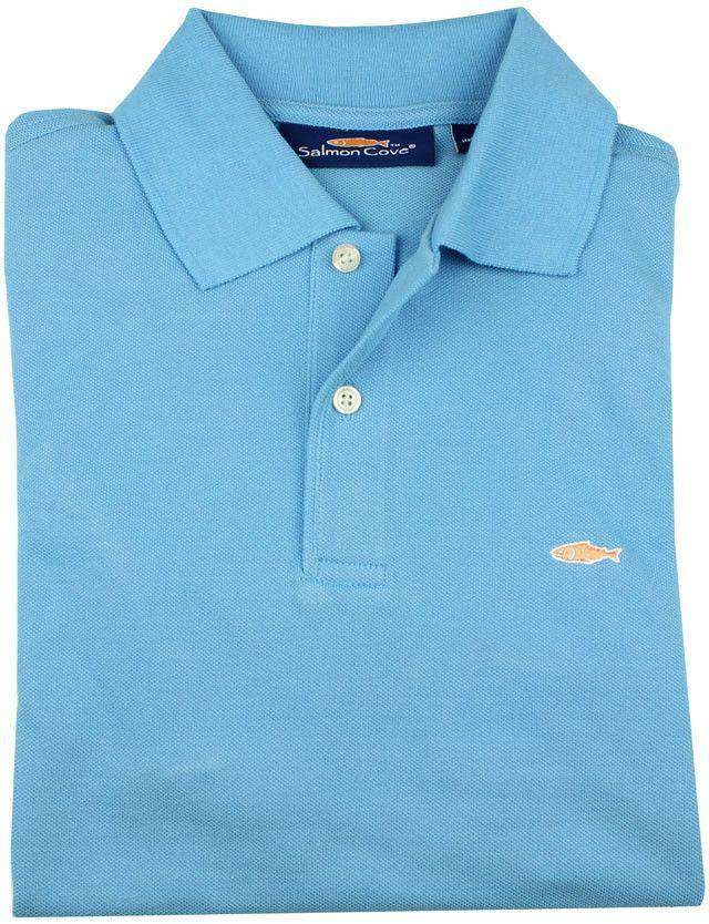 Men's Polo Shirts - Polo In Light Blue By Salmon Cove - FINAL SALE