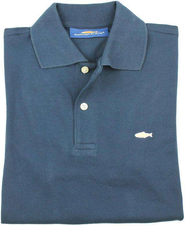 Men's Polo Shirts - Polo In Navy By Salmon Cove - FINAL SALE