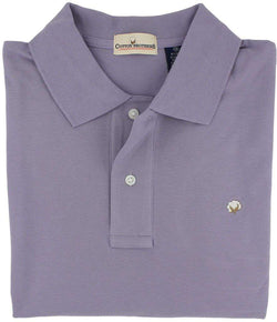 Men's Polo Shirts - Polo Shirt In Lavender By Cotton Brothers - FINAL SALE