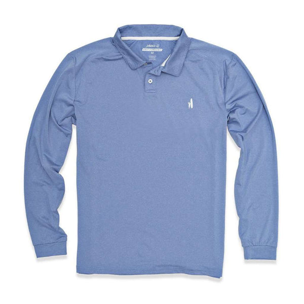 Porter Prep-Formance Long Sleeve Polo in Shade Blue by Johnnie-O