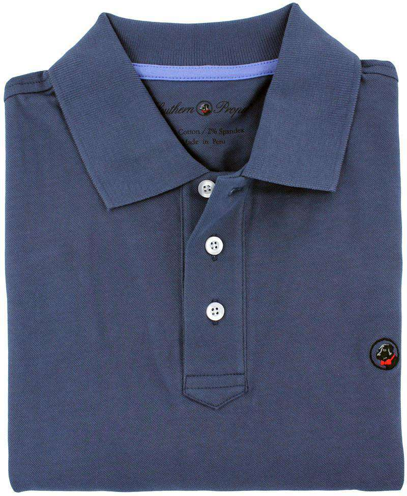 Men's Polo Shirts - Proper Polo In Navy By Southern Proper