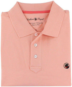 Men's Polo Shirts - Proper Polo In Pink By Southern Proper - FINAL SALE