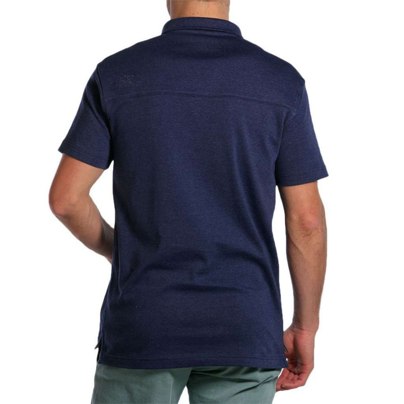Puremeso Heathered Pocket Polo in Navy by The Normal Brand - FINAL SALE