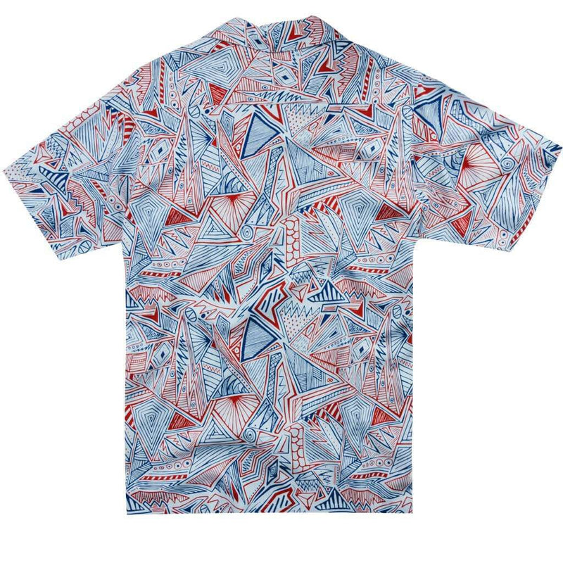 Rad Patriot Hawaiian Shirt in White by Rowdy Gentleman - FINAL SALE