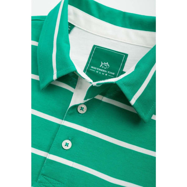 Men's Polo Shirts - River Oaks Sport Polo In Augusta Green By Southern Tide