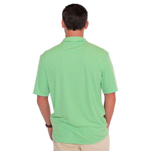 030d01616 Men s Polo Shirts - Shearwater Stripe Performance Polo In Sunny Lime By The  Southern Shirt Co ...