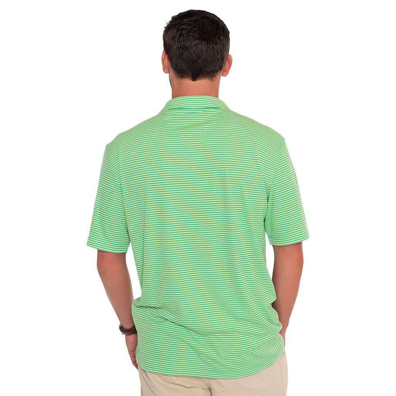 Shearwater Stripe Performance Polo in Sunny Lime by The Southern Shirt Co. - FINAL SALE