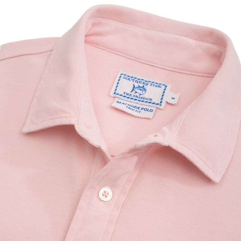 Short Sleeve Beachside Polo in Light Pink by Southern Tide