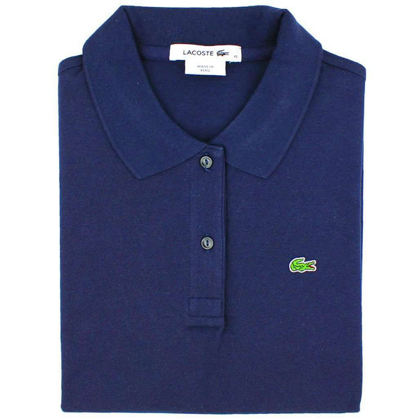 Men's Polo Shirts - Short Sleeve Classic Pique Polo In Navy By Lacoste