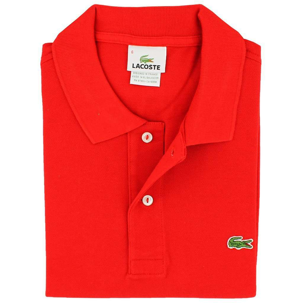 Mens Red Lacoste Polo Shirt Chad Crowley Productions