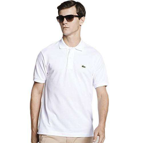 Men's Polo Shirts - Short Sleeve Classic Pique Polo In White By Lacoste
