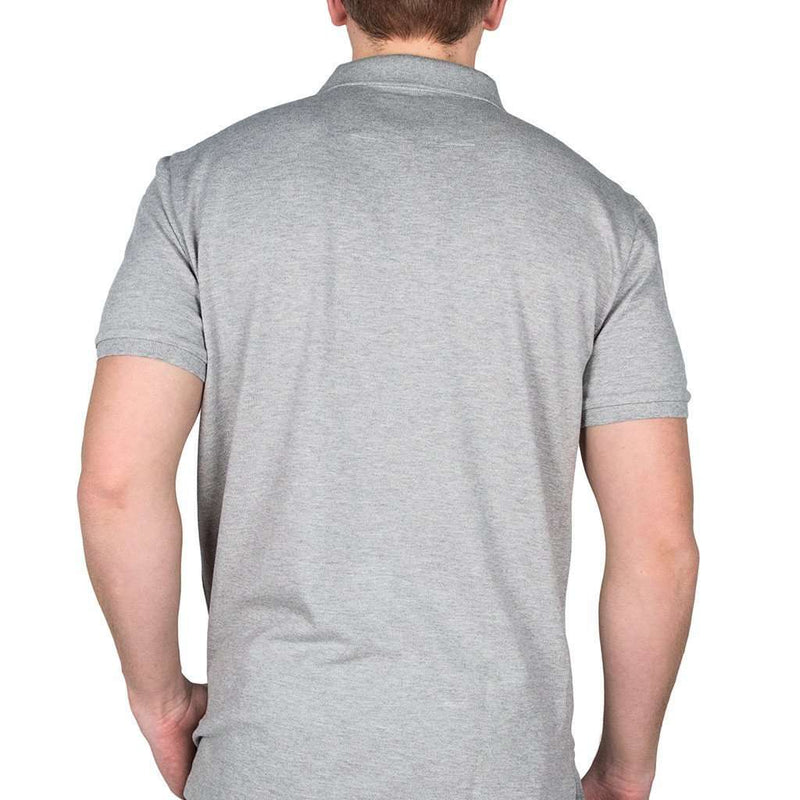 Short Sleeve Skipjack Polo in Heathered Grey by Southern Tide - FINAL SALE