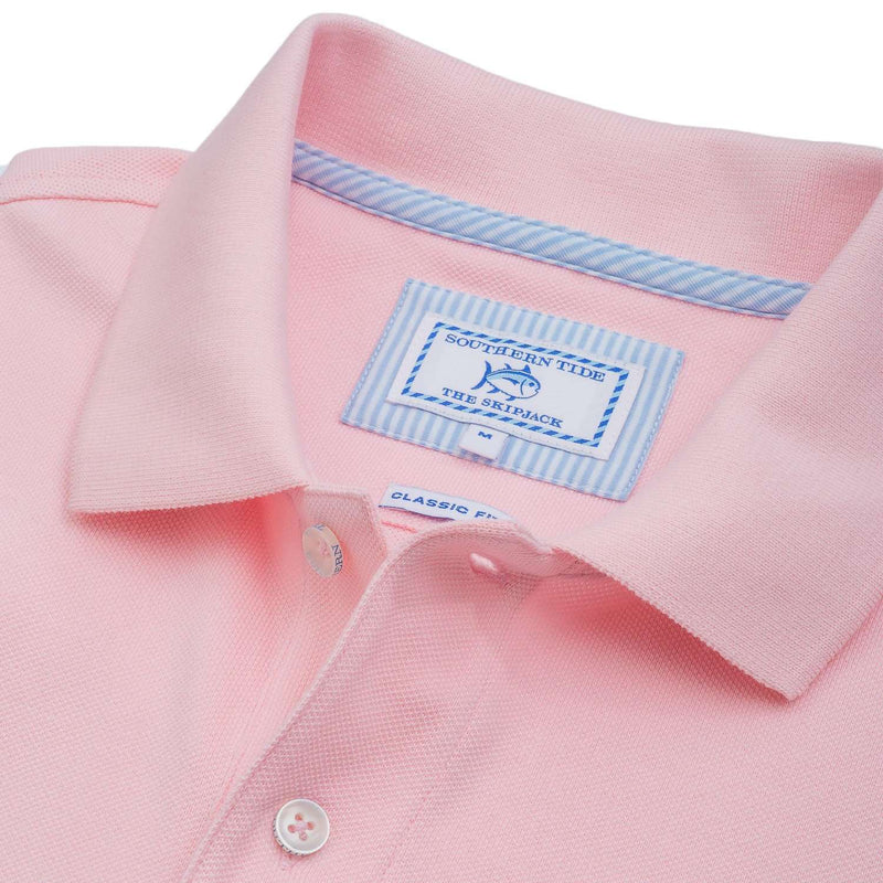 Short Sleeve Skipjack Polo in Light Pink by Southern Tide