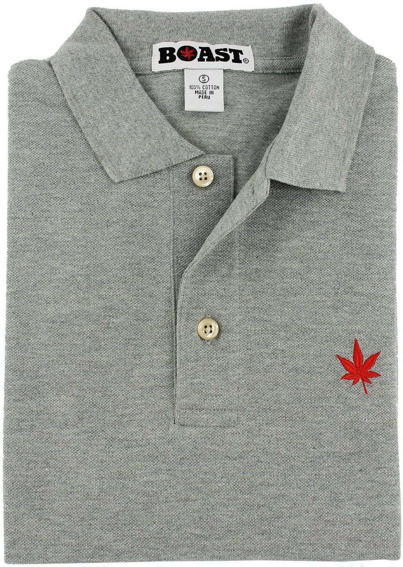 Solid Classic Polo in Heather Grey by Boast - FINAL SALE