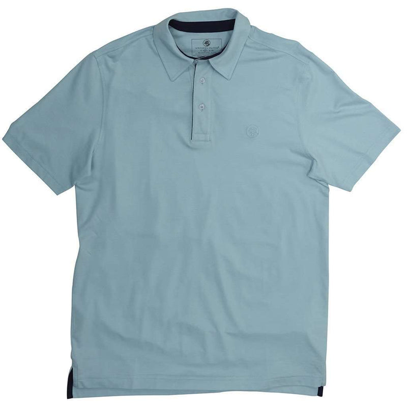Men's Polo Shirts - Southern Most Polo In Pool By Southern Proper - FINAL SALE