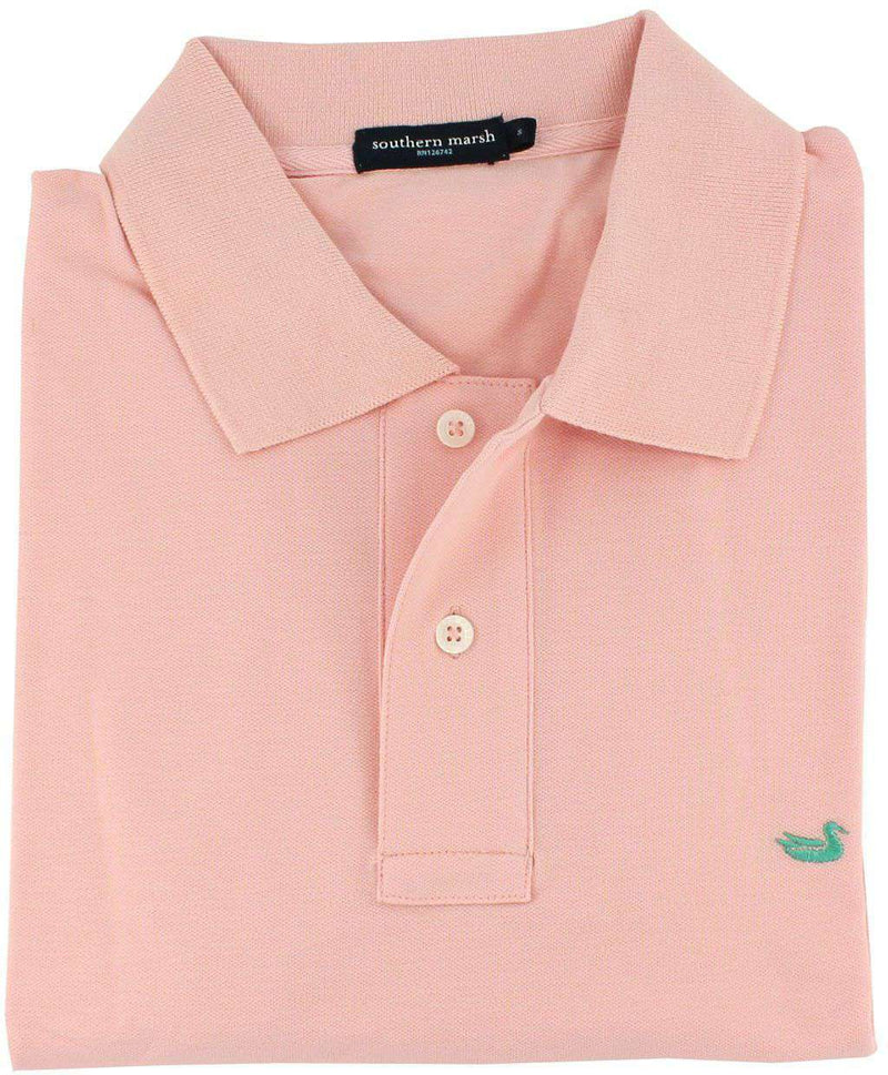 Stonewall Polo in Dogwood Pink by Southern Marsh - FINAL SALE