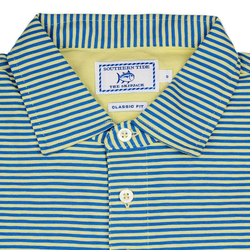 Striped Channel Marker Polo in Pineapple by Southern Tide