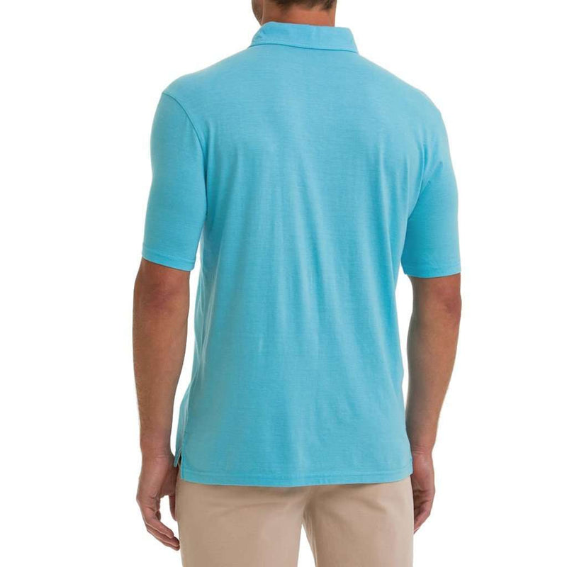 Men's Polo Shirts - Sunset Polo In Electric Blue By Johnnie-O - FINAL SALE