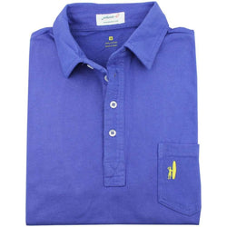 Men's Polo Shirts - The 4-Button Polo In Blueberry By Johnnie-O