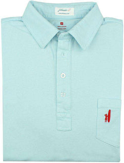 Men's Polo Shirts - The 4-Button Polo In Light Blue By Johnnie-O