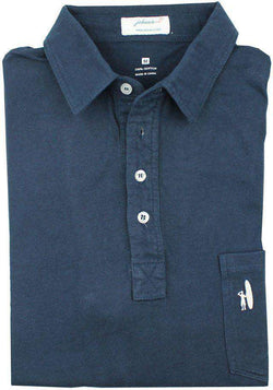 Men's Polo Shirts - The 4-Button Polo In Navy By Johnnie-O