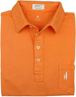 Men's Polo Shirts - The 4-Button Polo In Orange By Johnnie-O