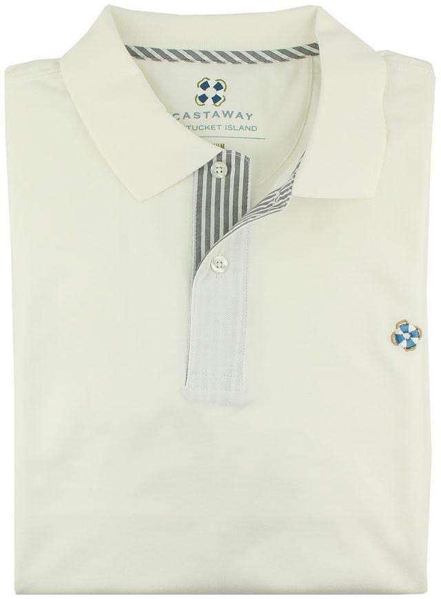 Men's Polo Shirts - The Classic Polo Shirt In Memorial White By Castaway Clothing