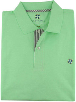 Men's Polo Shirts - The Classic Polo Shirt In Seafoam Green By Castaway Clothing