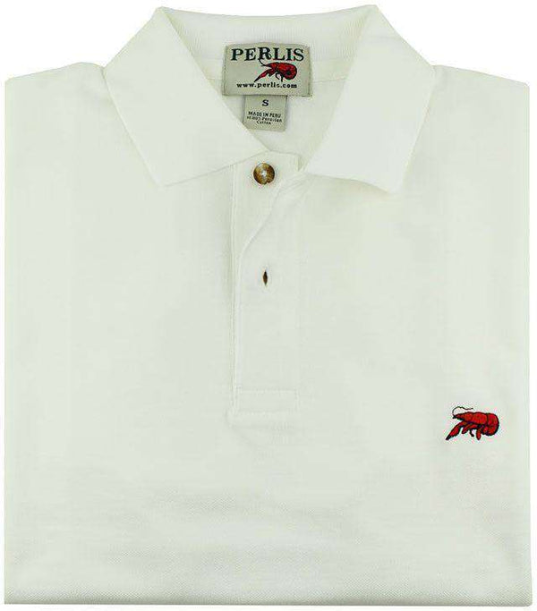 The Crawfish Polo in White by Perlis