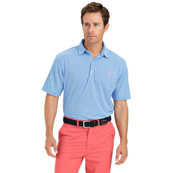Men's Polo Shirts - The Fairway Prep-Formance Polo In Vista By Johnnie-O
