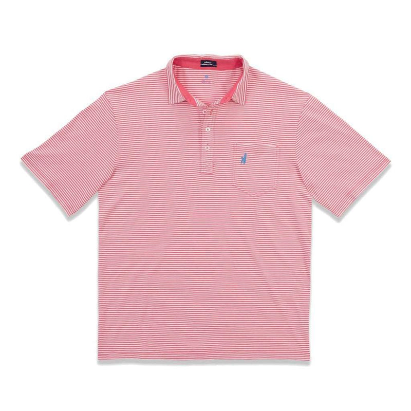 Men's Polo Shirts - The Jack Polo In Coral Reefer By Johnnie-O