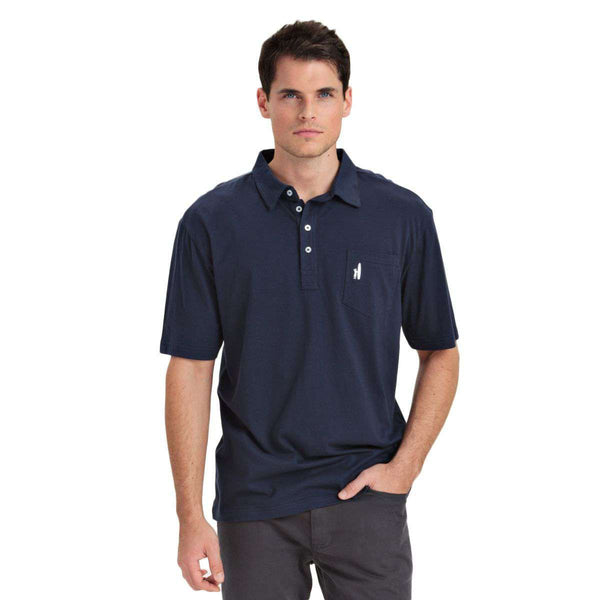Men's Polo Shirts - The Original 4-Button Polo In Navy By Johnnie-O