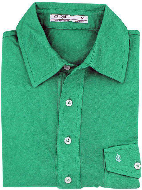 The Players Shirt in Augusta Green by Criquet - FINAL SALE