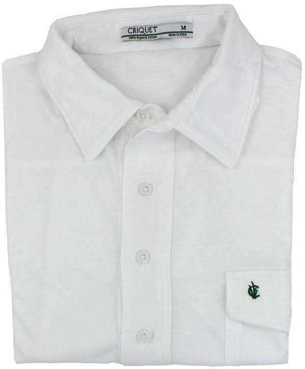 The Players Shirt in White by Criquet