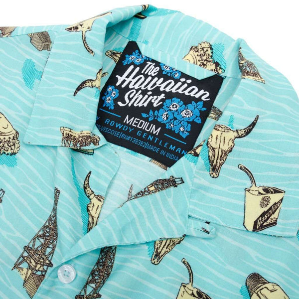The Tycoon Hawaiian Shirt in Seafoam by Rowdy Gentleman - FINAL SALE