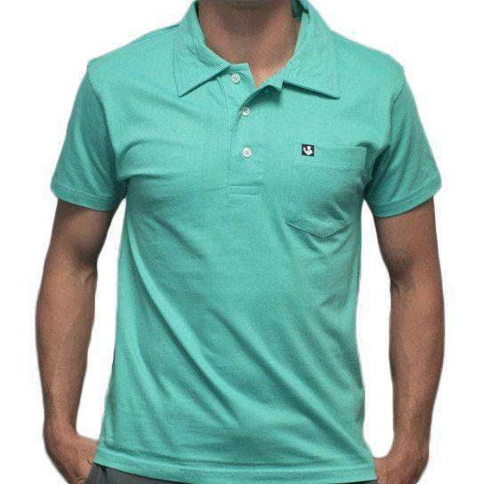 Men's Polo Shirts - Toasting Man Polo In Mint Green By Rowdy Gentleman - FINAL SALE