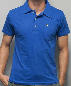 Men's Polo Shirts - Toasting Man Polo In Royal Blue By Rowdy Gentleman