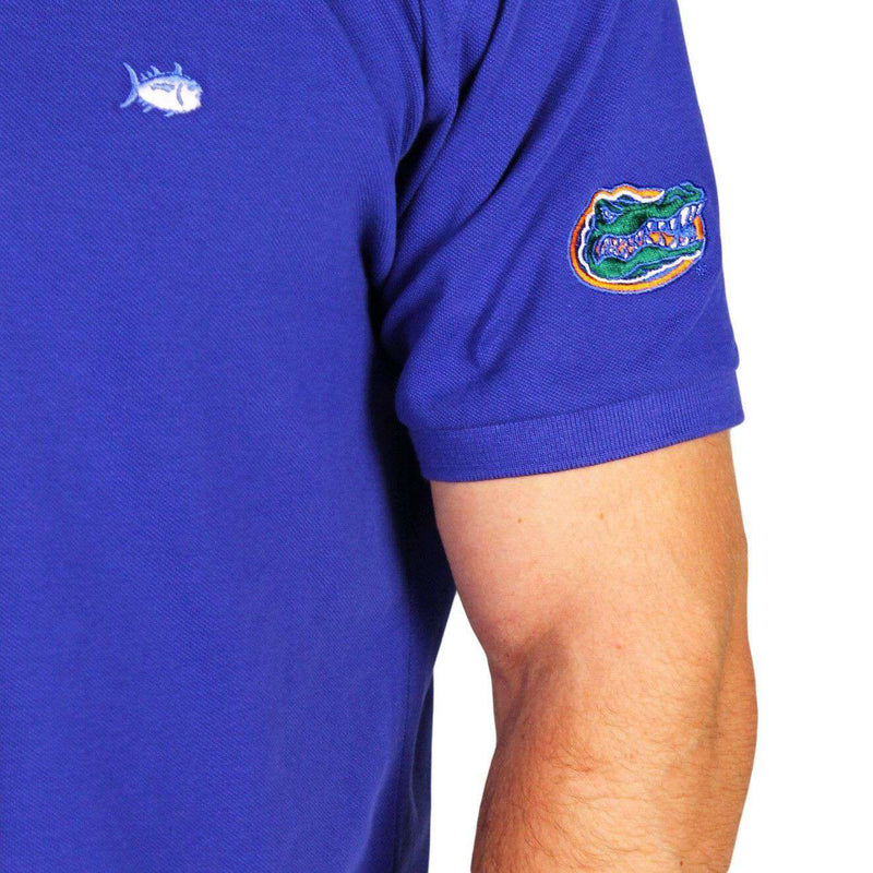 e64d42f14c1 Men's Polo Shirts - University Of Florida Collegiate Skipjack Polo In  University Blue By Southern Tide
