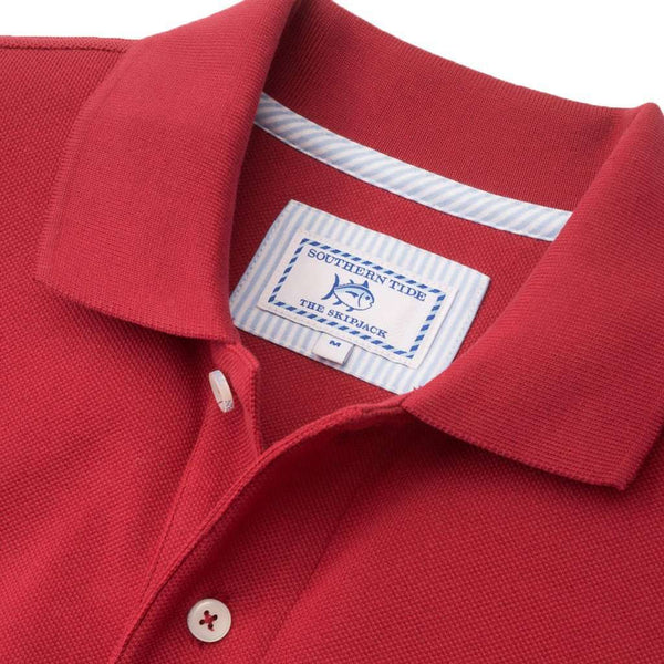 University of Oklahoma Gameday Skipjack Polo in Crimson by Southern Tide