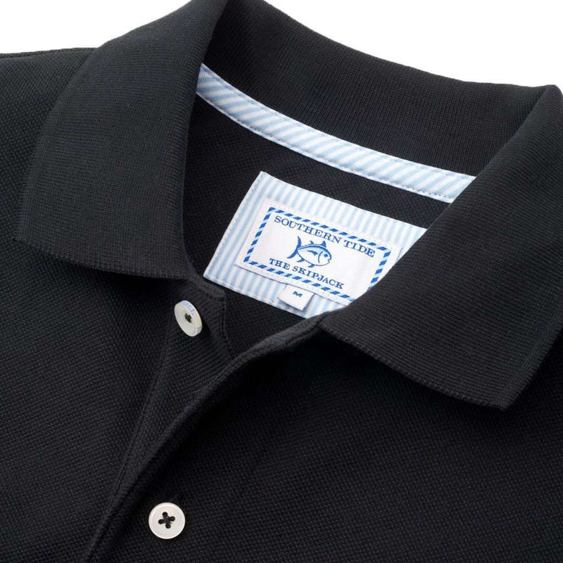 University of South Carolina Gameday Skipjack Polo in Black by Southern Tide
