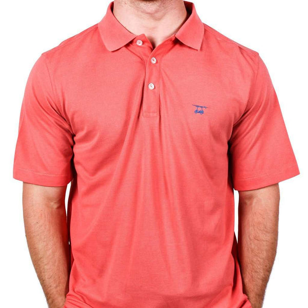 Men's Polo Shirts - West Beach Polo In Coral By Bald Head Blues