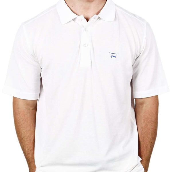 Men's Polo Shirts - West Beach Polo In White By Bald Head Blues
