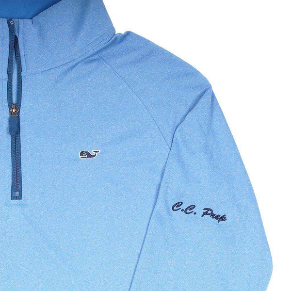 Men's Pullover - Custom Golf Pivot Quarter Zip In Spinnaker By Vineyard Vines - FINAL SALE