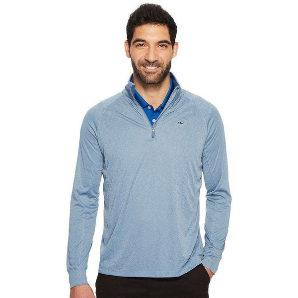 Men's Pullover - Custom Golf Pivot Quarter Zip In Twilight By Vineyard Vines - FINAL SALE