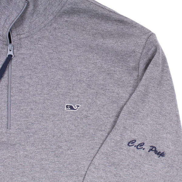 Custom Lindenhurst Quarter Zip in Gray Heather by Vineyard Vines