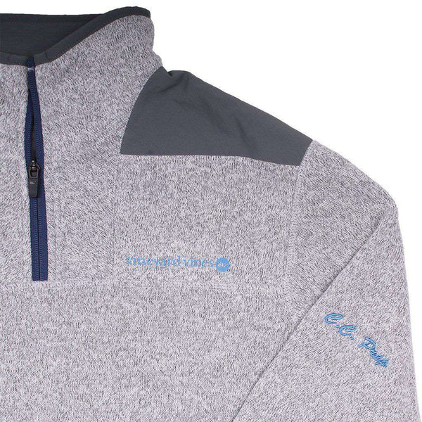 Custom Sweater Fleece Shep Shirt in Gray Heather by Vineyard Vines