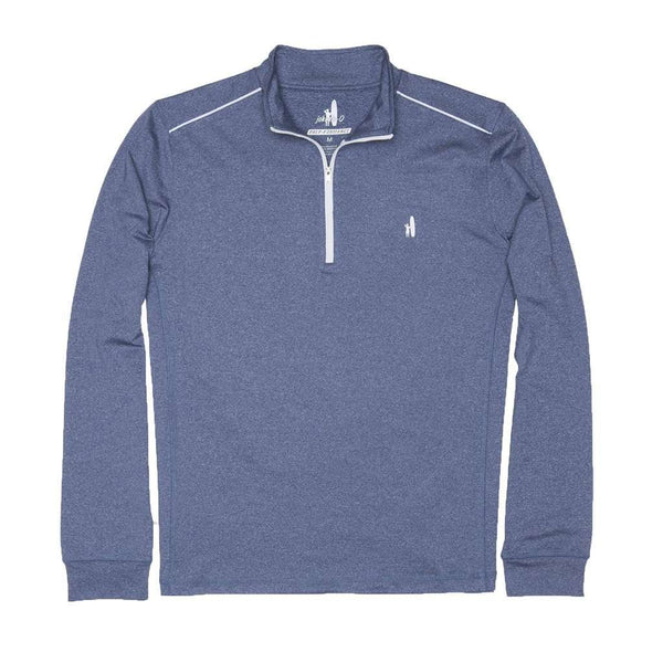 Men's Pullover - Lammie 1/4 Zip Prep-Formance Pullover In Lake By Johnnie-O